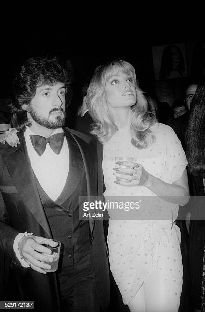 Sylvester Stallone with Susan Anton at the Regency Hotel for a formal event circa 1970 New York