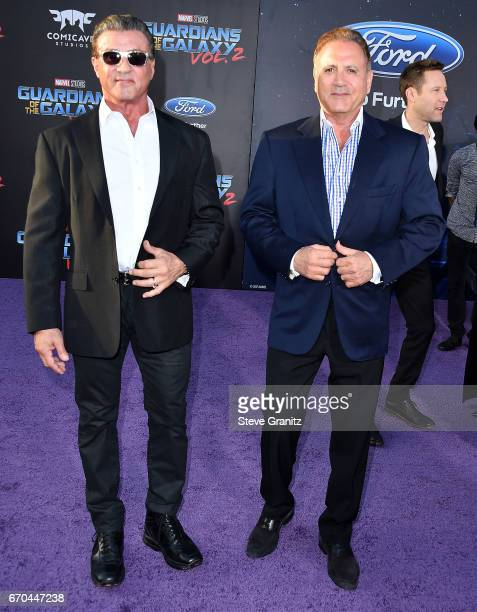 Sylvester StalloneFrank Stallone arrives at the Premiere Of Disney And Marvel's 'Guardians Of The Galaxy Vol 2' at Dolby Theatre on April 19 2017 in...