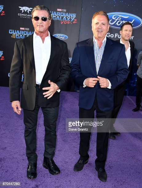 Sylvester StalloneFrank Stallone arrives at the Premiere Of Disney And Marvel's Guardians Of The Galaxy Vol 2 at Dolby Theatre on April 19 2017 in...