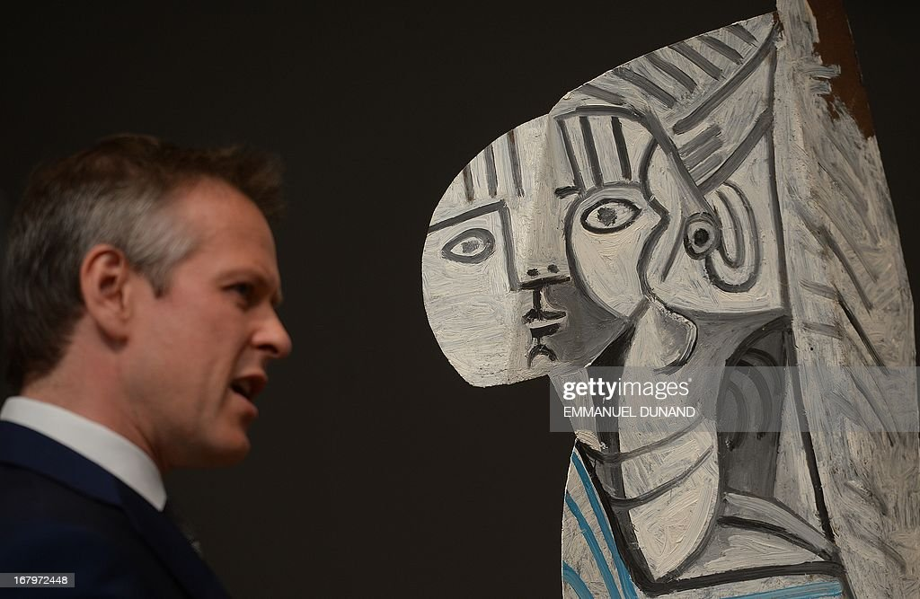 'Sylvette' by Pablo Picasso is on display during a preview of Sotheby's Impressionist and Modern Art sales in New York on May 3, 2013. Sotheby's is scheduled to hold its Impressionist and Modern Art sales May 7. The model for the piece was Sylvette David, later Lydia Corbett. AFP PHOTO/Emmanuel Dunand ++RESTRICTED
