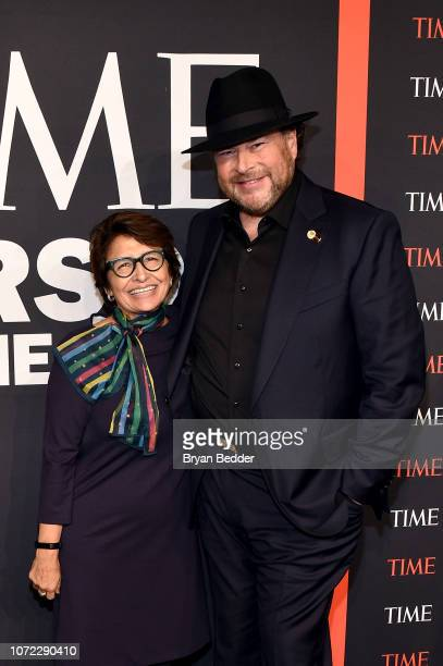 Sylvia Acevedo and Marc Benioff attends the TIME Person Of The Year Celebration at Capitale on December 12 2018 in New York City