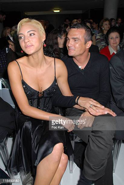 Sylvia and Richard Virenque attend the Zuhair Murad Paris Haute Couture Spring/Summer 2008 Show Front Row at the Hotel Westin on January 212008 in...