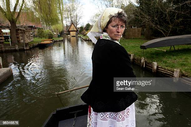 Sylvia Buchan, who says she is an ethnic Wend, a Slavic minority in eastern Germany distinct from Sorbians, another Slavic minority, ferries...