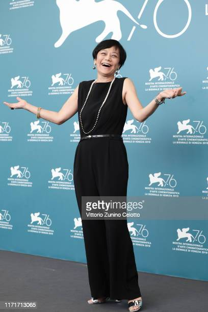 """Sylvia Chang attends """"Ji Yuan Tai Qi Hao"""" photocall during the 76th Venice Film Festival at Sala Grande on September 02, 2019 in Venice, Italy."""