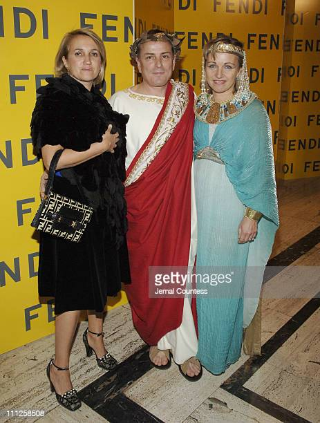 "Sylvia Fendi, Michael Burke and Bridgette Burke during Fendi Presents ""The All Hollows Eve Party"" at 25 Broadway in New York City, New York, United..."