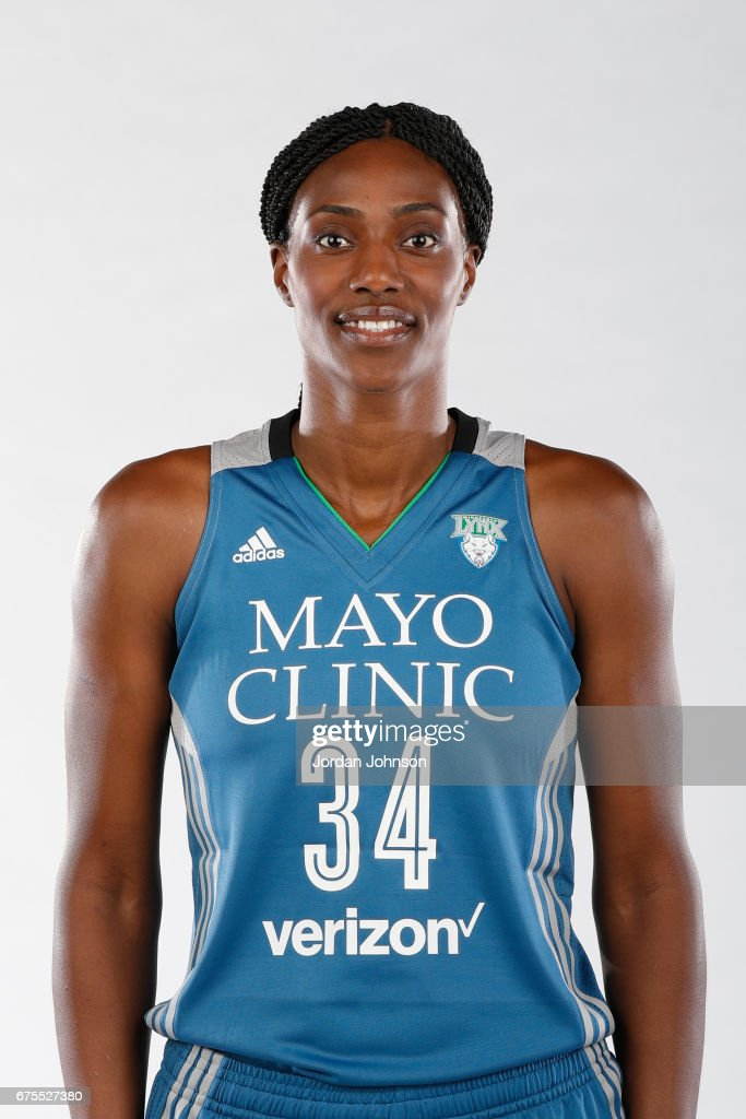 Sylvia Fowles #34 of the Minnesota Lynx poses for portraits during 2017 Media Day on May 1, 2017 at the Minnesota Timberwolves and Lynx Courts at Mayo Clinic Square in Minneapolis, Minnesota.