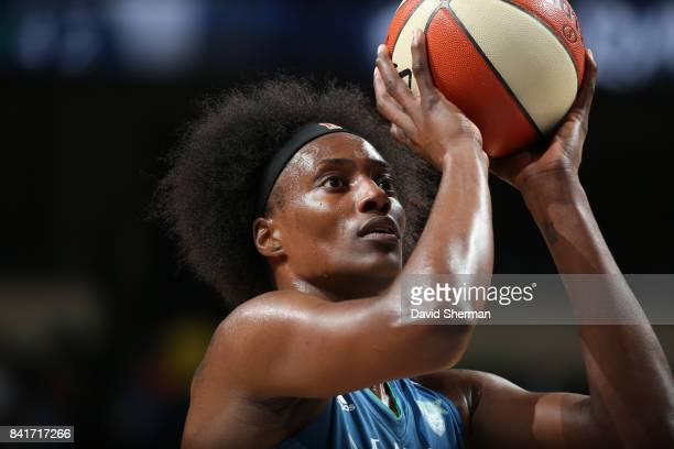 Sylvia Fowles of the Minnesota Lynx shoots a free throw during the game against the Chicago Sky on September 1 2017 at Xcel Energy Center in St Paul...