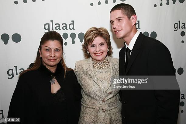 Sylvia Guerrero Gloria Allred and JD Pardo during 18th Annual GLAAD Media Awards San Francisco at Westin St Francis Hotel in San Francisco California...