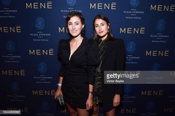 Sylvia Haghjoo and Julia Haghjoo attend the Mene Cocktail as part of the Paris Fashion Week Womenswear Spring/Summer 2019 at Hotel Plaza Athenee on...