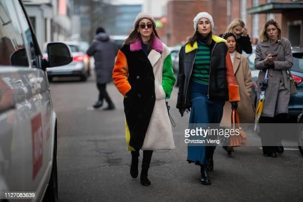 Sylvia Haghjoo and Julia Haghjoo seen outside Baum und Pferdgarten during the Copenhagen Fashion Week Autumn/Winter 2019 Day 3 on January 31 2019 in...