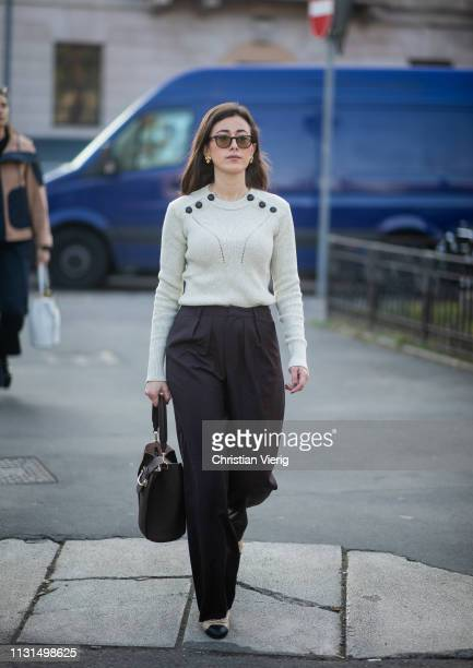 Sylvia Haghjoo is seen outside Tods on Day 3 Milan Fashion Week Autumn/Winter 2019/20 on February 22 2019 in Milan Italy