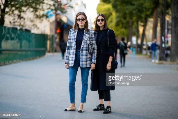 Sylvia Haghjoo, Julia Haghjoo is seen outside Koche during Paris Fashion Week Womenswear Spring/Summer 2019 on September 25, 2018 in Paris, France.