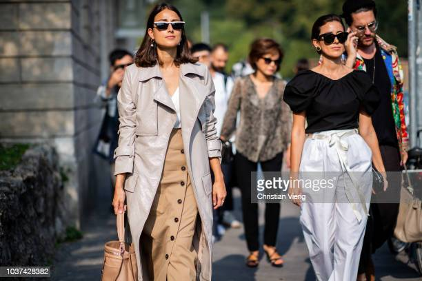 Sylvia Haghjoo; Julia Haghjoo seen outside Tods during Milan Fashion Week Spring/Summer 2019 on September 21, 2018 in Milan, Italy.