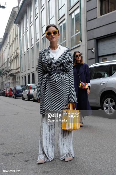 Sylvia Haghjoo seen during Max Mara show Milan Fashion Week Fall/Winter 2017/18 on February 23 2017 in Milan Italy
