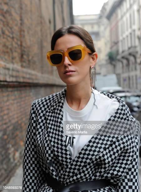 Sylvia Haghjoo seen during Max Mara show Milan Fashion Week Fall/Winter 2017/18 on February 23 2017 in Milan Italy