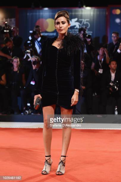 Sylvia Haghjoo walks the red carpet ahead of the 'The Favourite' screening during the 75th Venice Film Festival at Sala Grande on August 30 2018 in...