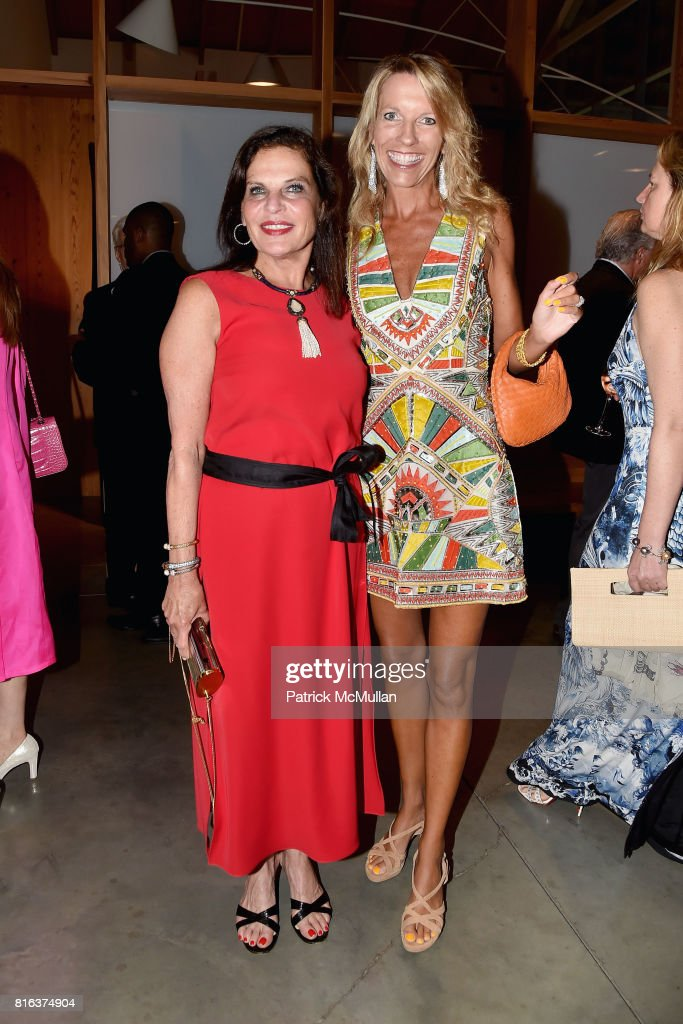 Sylvia Hemingway and Stephanie Hessler attend the Midsummer Party 2017 at Parrish Art Museum on July 15, 2017 in Water Mill, New York.