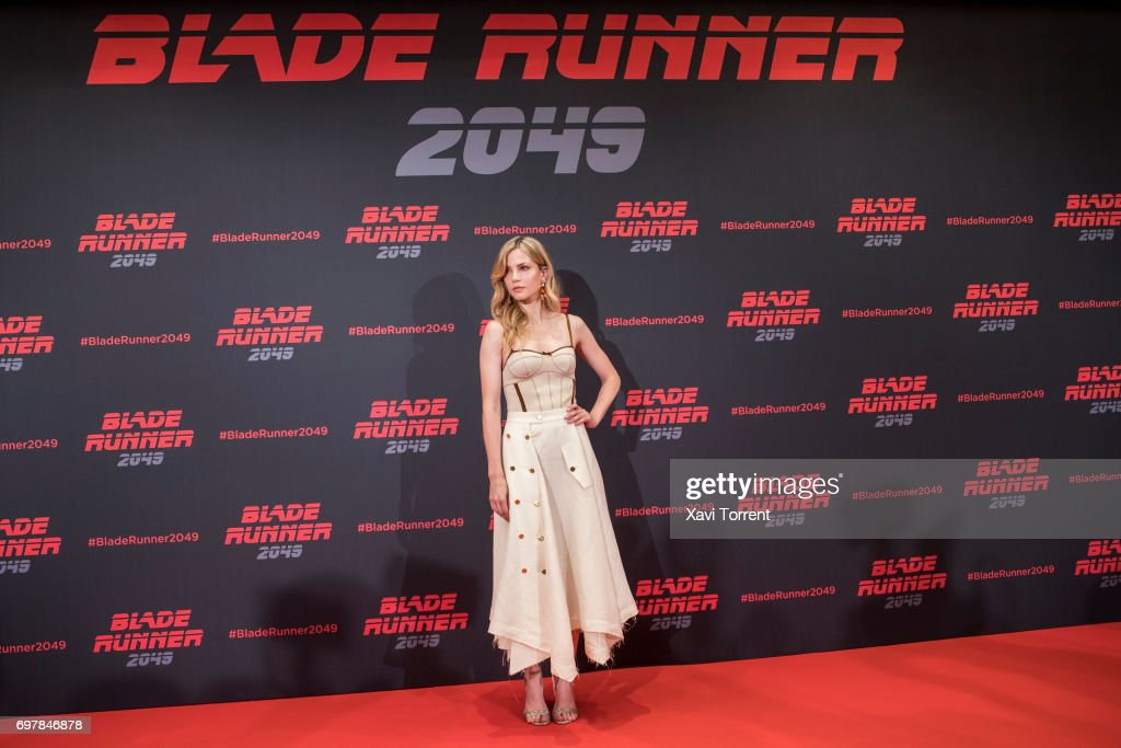 Sylvia Hoeks attends 'Blade Runner 2049' photocall at Arts Hotel on June 19, 2017 in Barcelona, Spain.