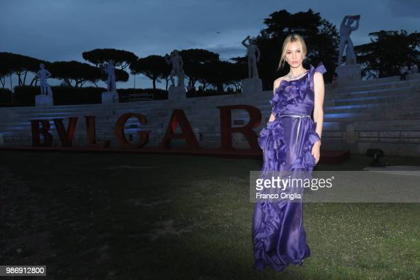 Sylvia Hoeks attends BVLGARI Dinner Party at Stadio dei Marmi on June 28 2018 in Rome Italy