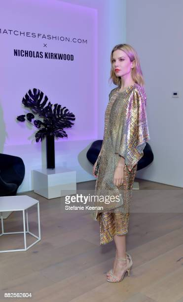 Sylvia Hoeks attends Nicholas Kirkwood and China Chow Host A Dinner For Matches Fashion on November 29 2017 in Los Angeles California