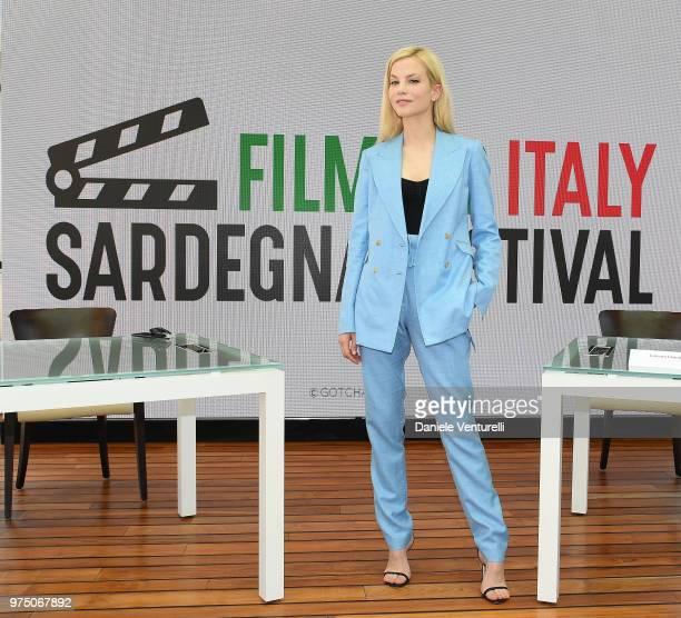 Sylvia Hoeks attends the 'Filming Italy Sardegna Festival' press conference at Forte Village Resort on June 15 2018 in Santa Margherita di Pula...