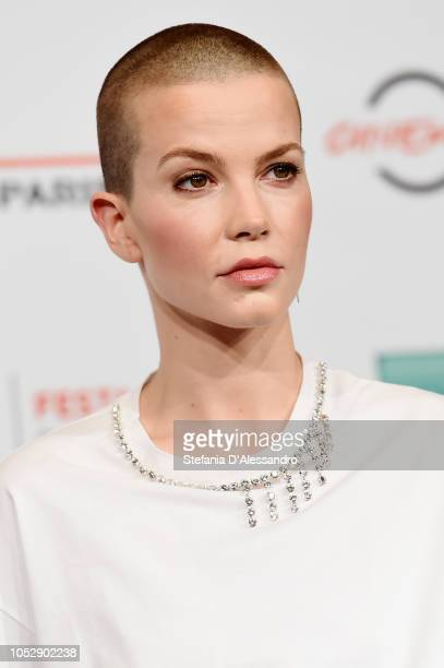 Sylvia Hoeks attends 'The Girl In The Spider's Web' photocall during the 13th Rome Film Fest at Auditorium Parco Della Musica on October 24 2018 in...