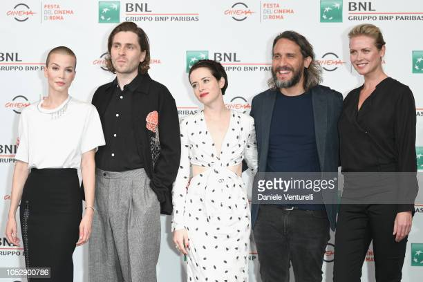 Sylvia Hoeks Sverrir Gudnason Claire Foy Fede Alvarez and Synnove Macody Lund attend 'The Girl In The Spider's Web' photocall during the 13th Rome...