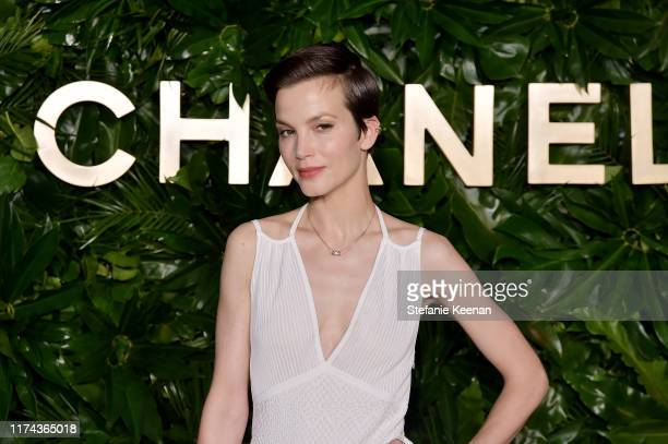 Sylvia Hoekswearing CHANEL attends Chanel Dinner Celebrating Gabrielle Chanel Essence With Margot Robbie on September 12 2019 in Los Angeles...