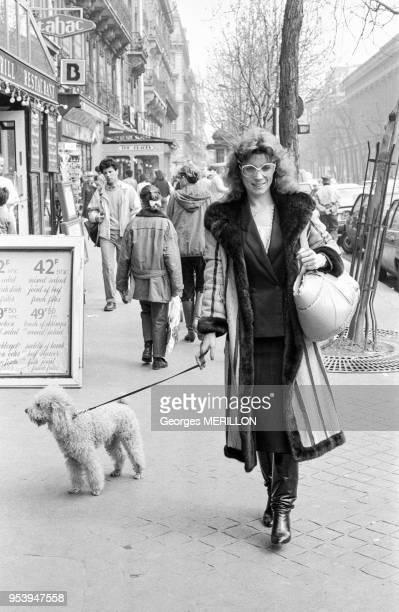 Sylvia Jeanjacquot l'ex compagne de Jacques Mesrine à Paris le 7 avril 1988 France