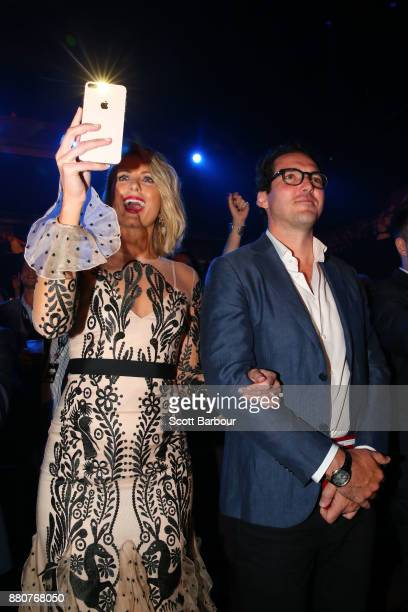 Sylvia Jeffreys and Peter Stefanovic attend the 31st Annual ARIA Awards 2017 at The Star on November 28 2017 in Sydney Australia