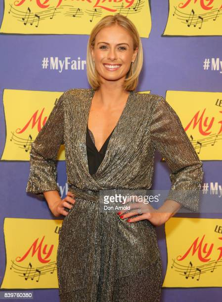 Sylvia Jeffreys arrives ahead of My Fair Lady premiere at Capitol Theatre on August 27 2017 in Sydney Australia