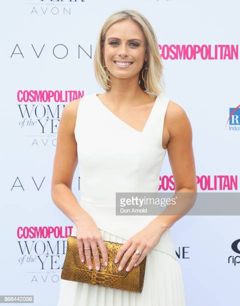 Sylvia Jeffreys arrives ahead of the 11th Annual Cosmopolitan Women of the Year Awards on October 26 2017 in Sydney Australia