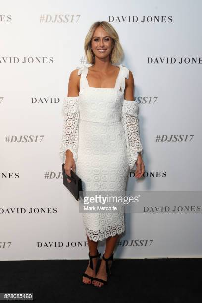 Sylvia Jeffreys arrives ahead of the David Jones Spring Summer 2017 Collections Launch at David Jones Elizabeth Street Store on August 9 2017 in...