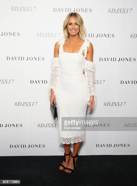 Sylvia Jeffreys arrives ahead of the David Jones Spring Summer 2017 Collections Launch at David Jones Elizabeth Street Store on August 9 2017 in...