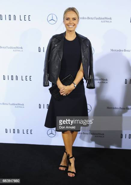 Sylvia Jeffreys arrives ahead of the MercedesBenz Presents Dion Lee show at MercedesBenz Fashion Week Resort 18 Collections at the Sydney Opera House...