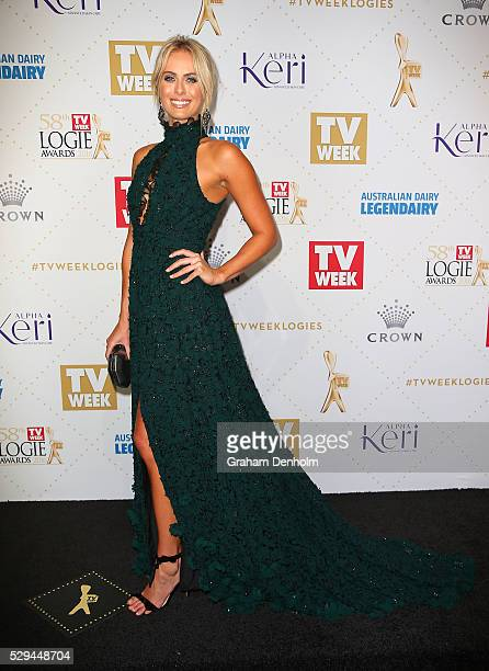 Sylvia Jeffreys arrives at the 58th Annual Logie Awards at Crown Palladium on May 8 2016 in Melbourne Australia