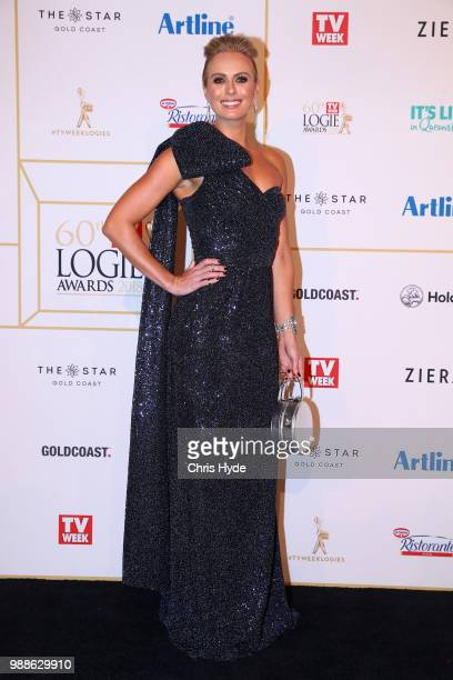 Sylvia Jeffreys arrives at the 60th Annual Logie Awards at The Star Gold Coast on July 1 2018 in Gold Coast Australia