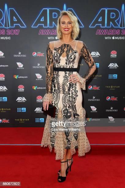 Sylvia Jeffreys arrives for the 31st Annual ARIA Awards 2017 at The Star on November 28 2017 in Sydney Australia