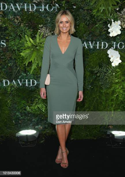Sylvia Jeffreys attends the David Jones Spring Summer 18 Collections Launch at Fox Studios on August 8 2018 in Sydney Australia