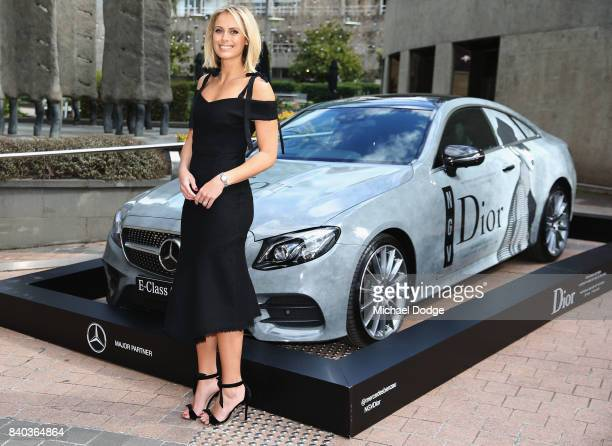 Sylvia Jeffreys poses ahead of the Dior lunch at NGV International on August 29 2017 in Melbourne Australia