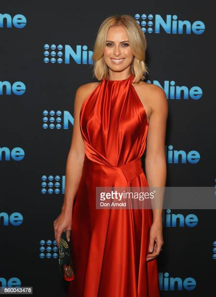 Sylvia Jeffreys poses during the Channel Nine Upfronts 2018 event on October 11 2017 in Sydney Australia