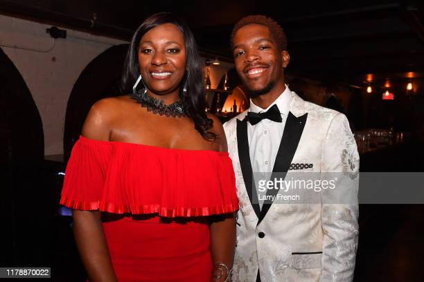 Sylvia Johnson and Marcus Alland artist performer are seen at Jamie Foster Brown's Sister2Sister DC Launch and MsGrandiosity's birthday celebration...