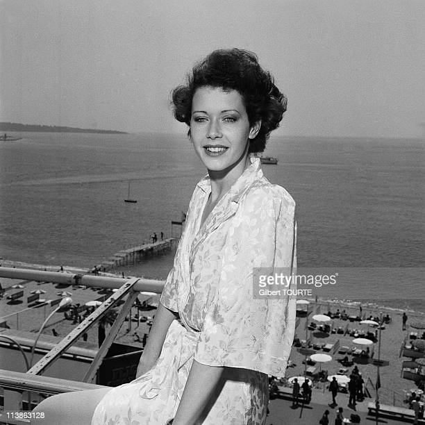 Sylvia Kristel at Cannes Film Festival in 1974 in Cannes, France.
