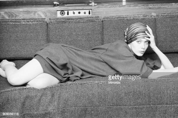 Sylvia Kristel, Dutch actress in the UK to promote new film, Emmanuelle, pictured relaxing in her hotel room after arriving , London, Friday 24th...