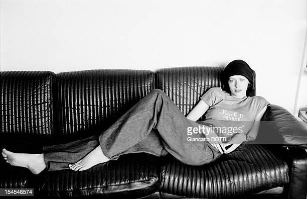 Sylvia Kristel famous actress starring in blockbuster 'Emmanuelle' circa 1970 in Paris France