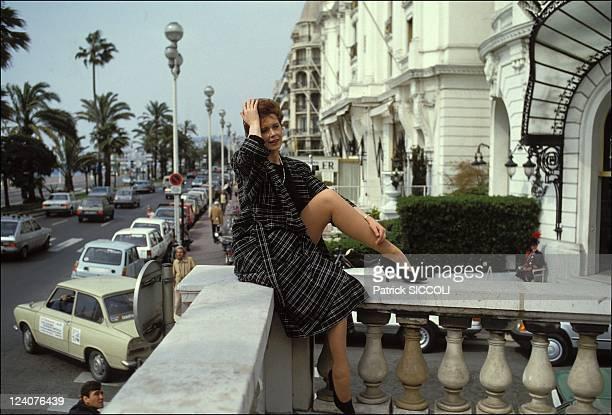 Sylvia Kristel In Nice France On April 25 1985