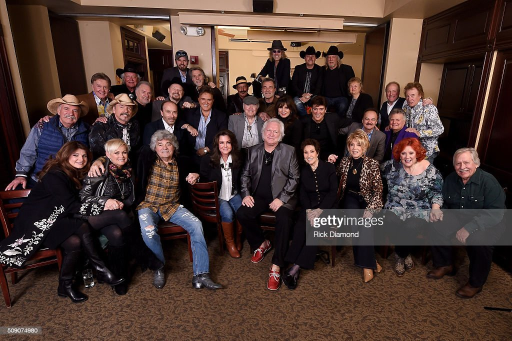 Sylvia, Lorrie Morgan, Dave Rowland, Jennifer McCarter, T. Graham Brown, Jan Howard, Jeannie Seely, Lulu Roman, John Conlee, Howard Bellamy, David Bellamy, Lee Greenwood, T. G. Sheppard, Roy Clark, Deborah Allen, Ronnie McDowell, Jimmy Fortune, Leroy Van Dyke, Bill Anderson, Rex Allen, Jr., Gene Watson, Moe Bandy, Sonny LeMaire, Marlon Hargis, Steve Goetzman, Lorraine Jordan, Collin Raye, Mark Wills, Big Kenny, John Rich, and John Anderson attend the 2nd Annual Legendary Lunch presented by Webster Public Relations and CMA at The Palm Restaurant on February 8, 2016 in Nashville, Tennessee.