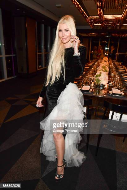 Sylvia Mantella attends the personal appearance of Designer Alessandra Rich held at The Room in Hudson's Bay on October 26 2017 in Toronto Canada