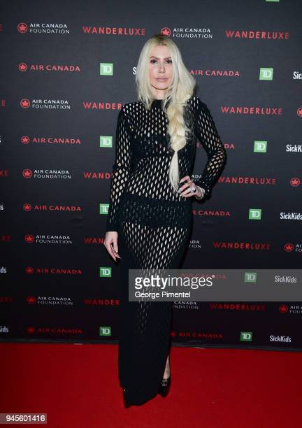 Sylvia Mantella attends Wanderluxe benefiting Air Canada And SickKids Foundationon held at Rebel on April 12 2018 in Toronto Canada
