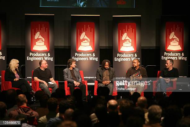 Sylvia Massy Joe Barresi Bob Clearmountain Jimmy Douglass DJ Khalil and Nathaniel Kunkel attends GRAMMY SoundTables Sonic Imprints Songs That Changed...